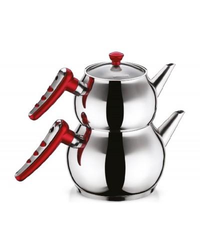 Hascevher Apple Orta Boy Kırmızı Çaydanlık