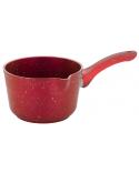 Hascevher Germanitium 14x09 cm Granit Sütlük Oluklu Kapaksız Kırmızı