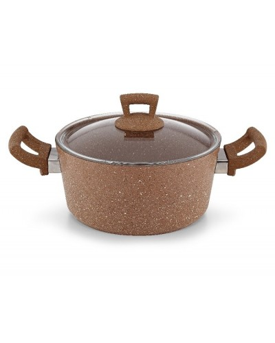 Hascevher Germanitium 22 cm Granit Tencere - Kahve