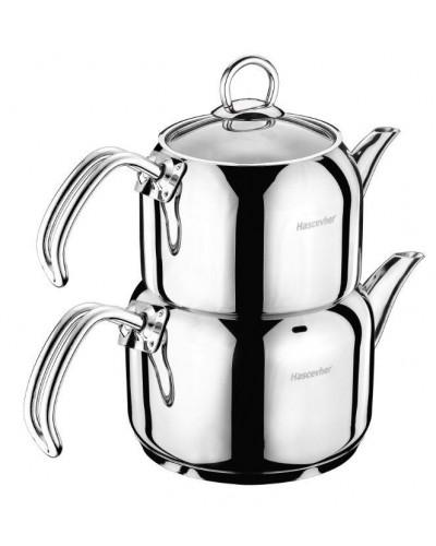 Hascevher Armada Flansh Kulplu Orta Boy Çaydanlık