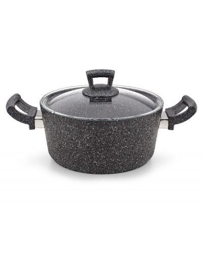 Hascevher Germanitium 22 cm Granit Tencere - Siyah