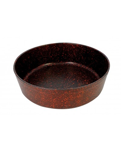 Hascevher Stone 26 cm Granit Fırın Tepsi - Kırmızı