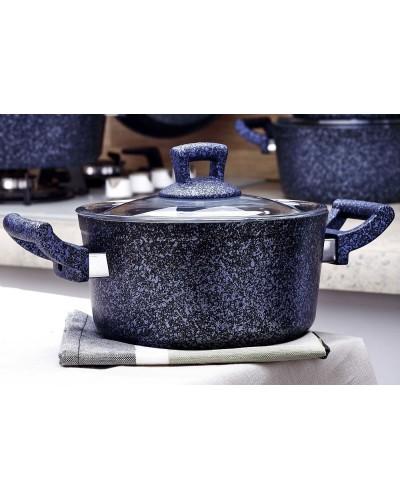 Hascevher Stone 20 cm Tencere - Mavi
