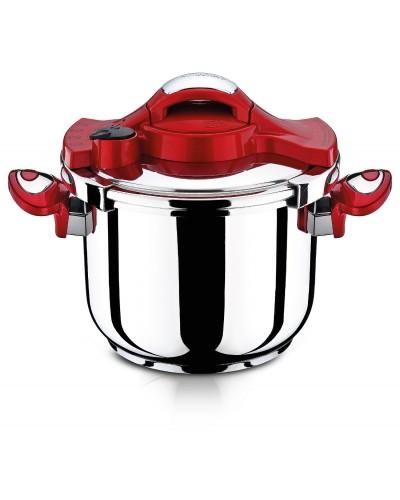 Hascevher Astoria 5,0 lt Matik Düdüklü Tencere - Kırmızı