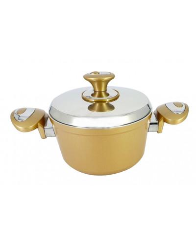 Hascevher Astoria 18 cm Seramik Tencere - Altın