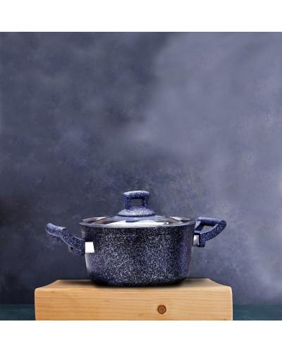 Hascevher Stone 22 cm Granit Tencere - Mavi