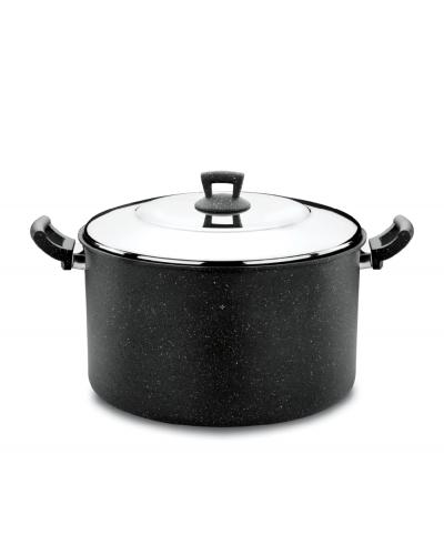 Hascevher Germanitium 34 cm Granit Tencere - Siyah