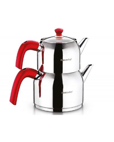 Hascevher Armada Aile Boy Çaydanlık Kırmızı